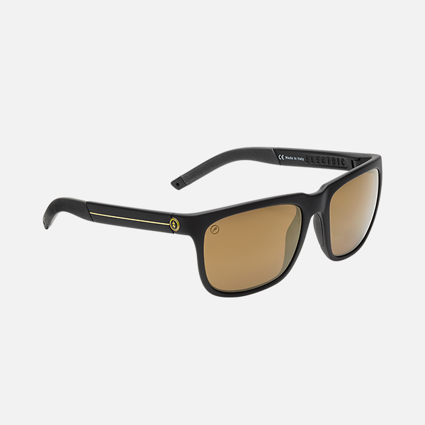 Electric Eyewear - Knoxville S JJF Black-Gold Stripe/OHM+ PLR Bronze