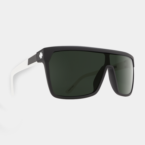 Spy Sunglasses - Flynn - Matte Ebony Ivory Happy Gray Green