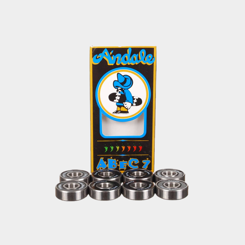 Andale Abec 7 Bearings. Set of 8 bearings for skateboards.