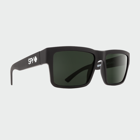 Spy Sunglasses Montana - Soft Matte Black Happy Grey Green