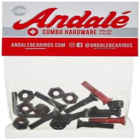 Andale Combo Hardware Red  - 7/8""
