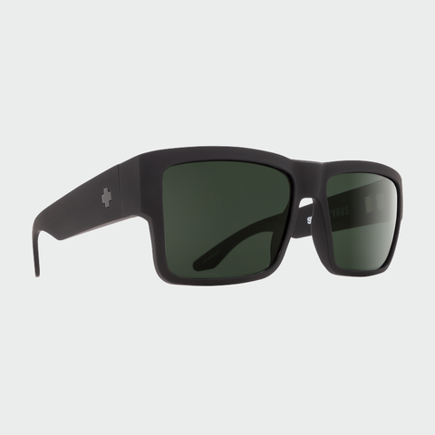 Spy Sunglasses Cyrus - Soft Matte Black Happy Grey Green Polarized