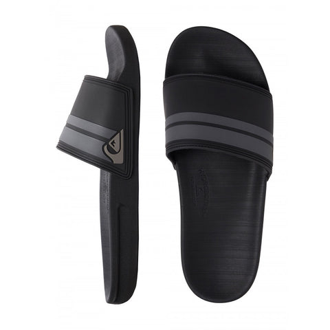 Quiksilver Rivi Slides - Black/Grey