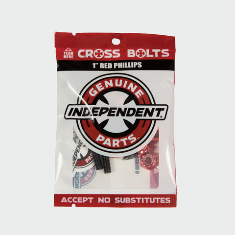 Independent Cross Bolts Red 1'' Ph
