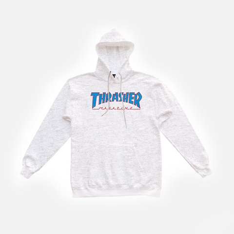 Thrasher Outlined Hood - Ash/Grey