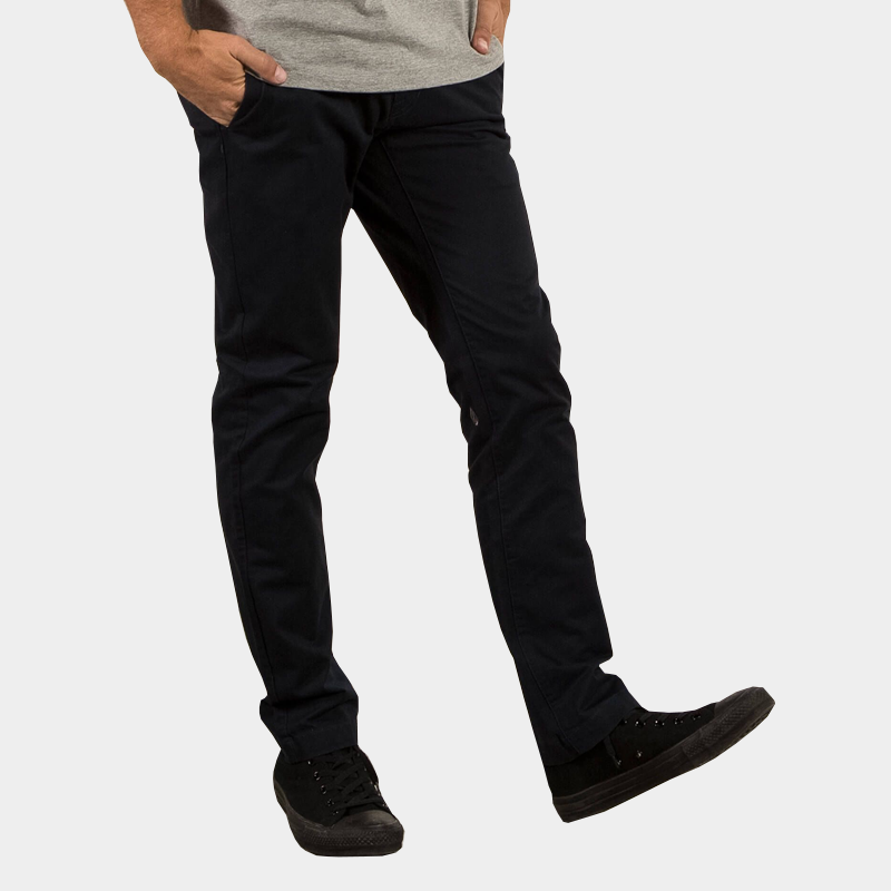 look out for super cheap really comfortable Volcom Frickin Slim Straight Chino - Black