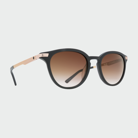 Spy Sunglasses Pismo - Matte Black / Rose Gold Happy Bronze Fade