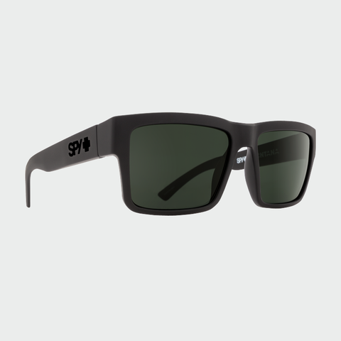 Spy Sunglasses Montana - Soft Matte Black Grey Green Polarized