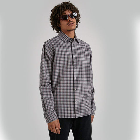 Afends Capital Hemp L/S Shirt - Drizzle