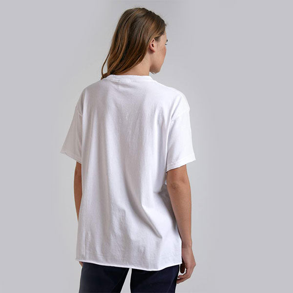 Afends Kirby Distressed Vintage Fit Tee - White