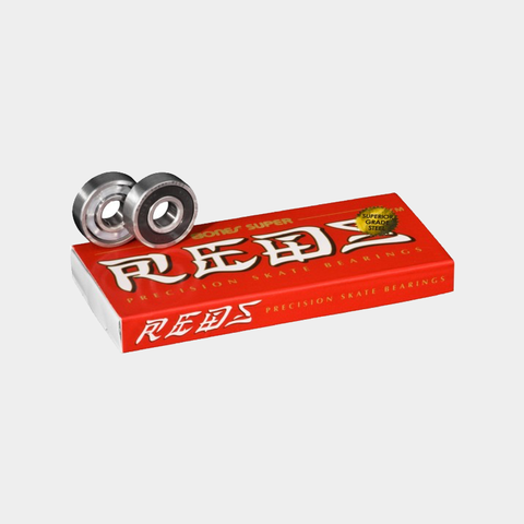 Bones Super Reds Bearings. Set of 8 high quality skateboard bearings