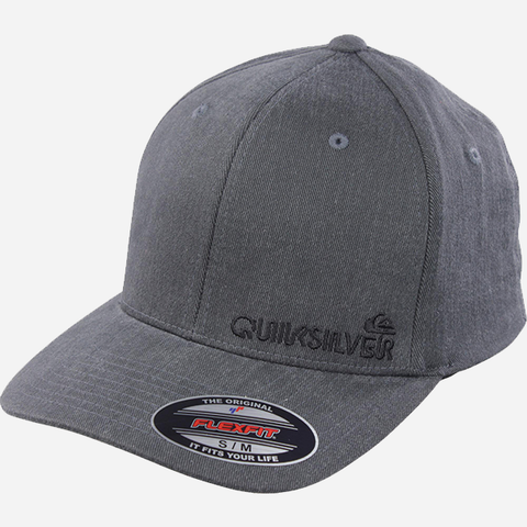 Quiksilver Sidestay Flexfit Cap - Medium Grey Heather