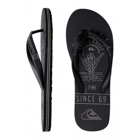 Quiksilver Molokai No Worries Jandals - Black/Grey