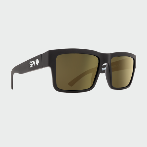 Spy Sunglasses Montana Soft Matte Black Happy Bronze w/Gold Mirror