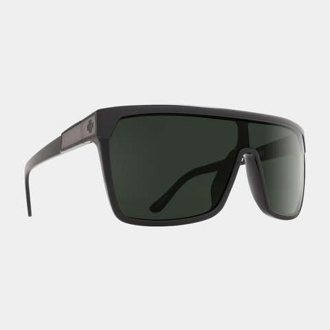 Spy Sunglasses - Flynn Black Matte Black Happy Gray Green