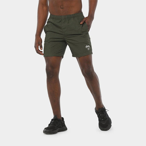 Stussy Basic Stock Beach Short - Flight Green