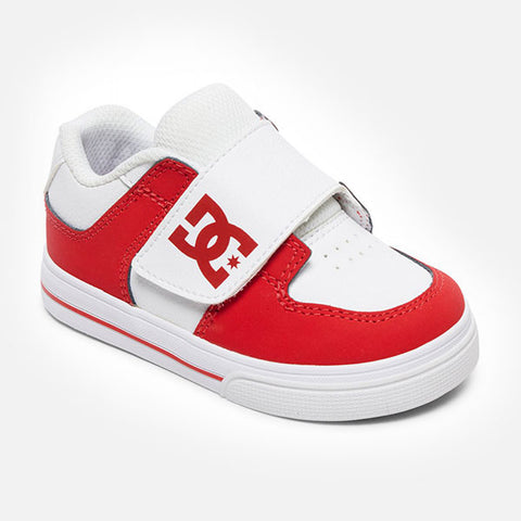 DC Shoes Pure V ll Toddler- White Red