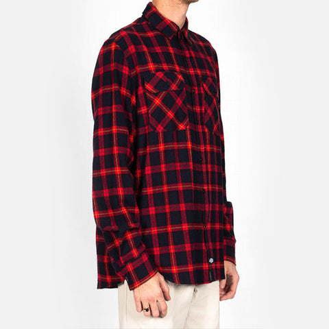 Dickies Norias L/S Flannel Shirt - Red