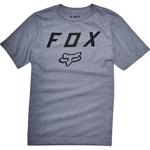 Fox Youth Legacy Moth Tee - Heather Graphite
