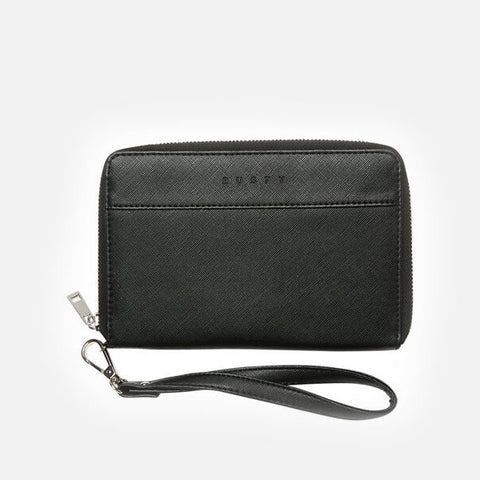 Rusty Haruko Travel Wallet - Black