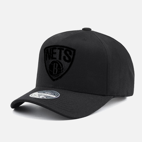 Mitchell & Ness Brooklyn Nets 110 Snapback - All Black Logo