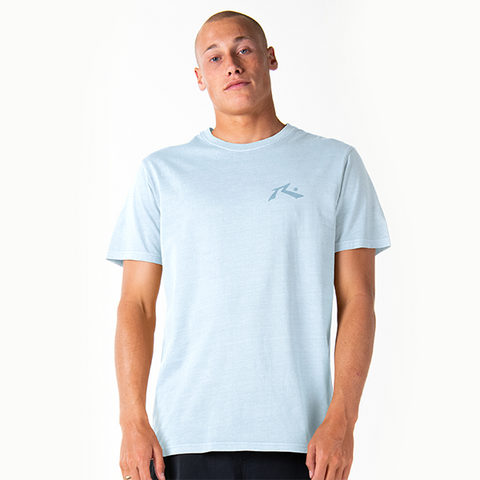 Rusty Comp Wash Short Sleeve Tee - Blue Fog