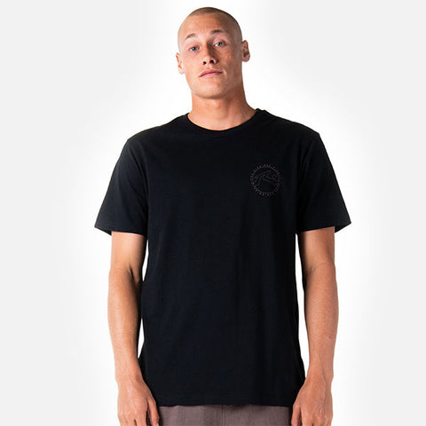 Rusty Hand Done Short Sleeve Tee - Black