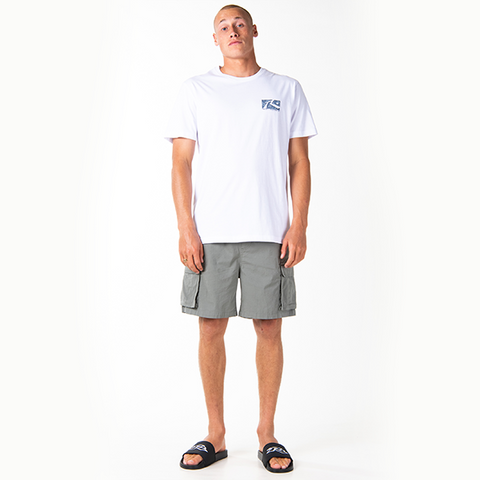 Rusty Scratch Short Sleeve Tee - White