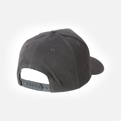 Rusty Trap Snapback Cap - Coal