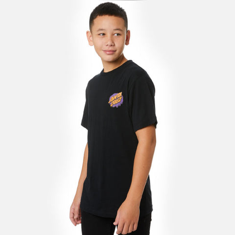 Santa Cruz Melting Dot Youth Tee - Black