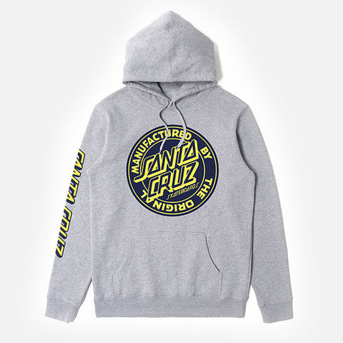 Santa Cruz MFG Dot Youth Pop Hood - Grey Marle