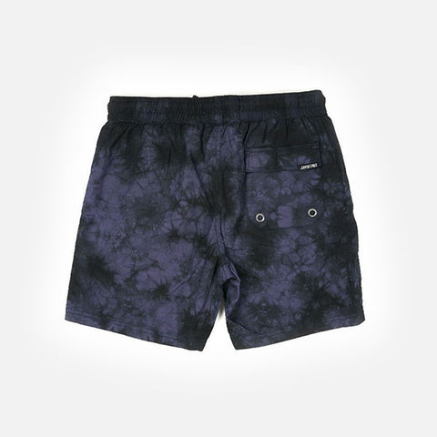 Santa Cruz Youth Original Dot Shorts - Navy Tie Dye