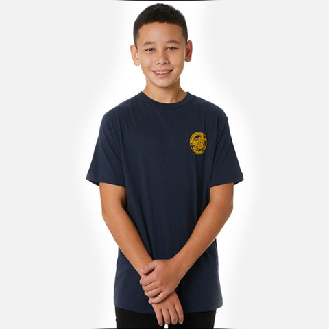 Santa Cruz Original Dot Youth Tee - Navy