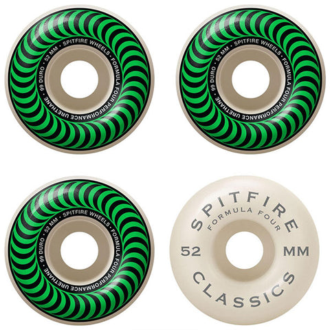 Spitfire Wheels F4 99 Classic Green - 52mm