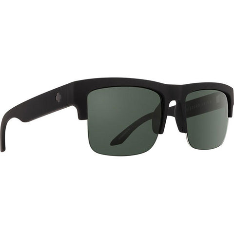 Spy Discord 5050 Soft Matte Black HD Plus Gray Green Polarized