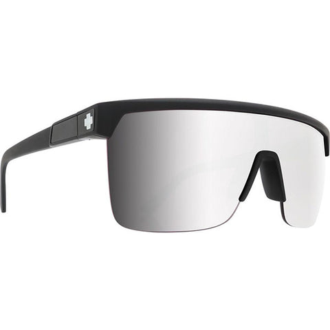 Spy Sunglass Flynn 5050 - Matte Black HD Plus Rose w/Silver Spectra Mirror