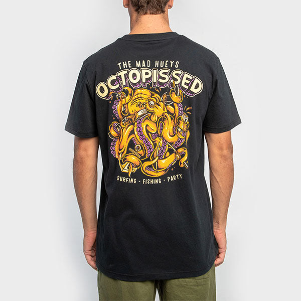 The Mad Huey's Octopissed Tee - Black