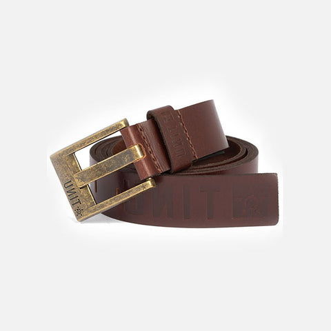 Unit Mens Belt Fortitude - Dark Chocolate Leather