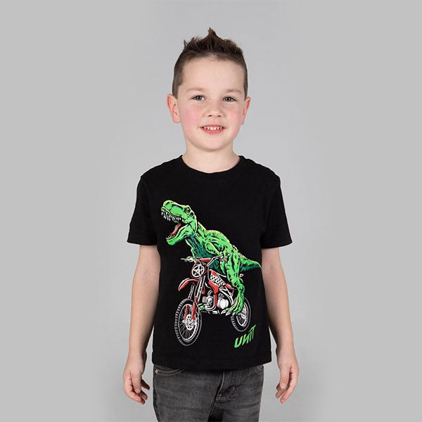 Unit T-Rex Kids Tee - Black