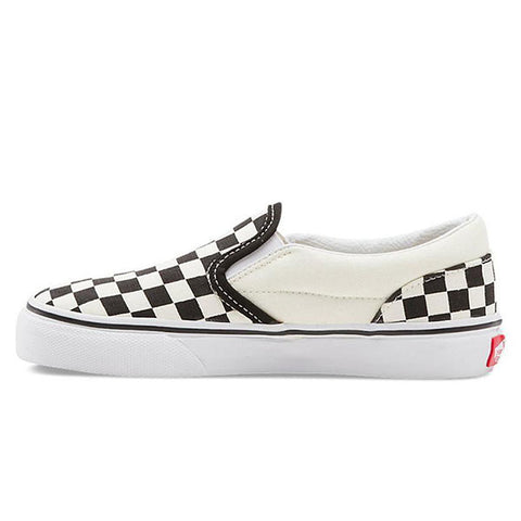 Vans Classic Slip On Youth - Black/White Checker