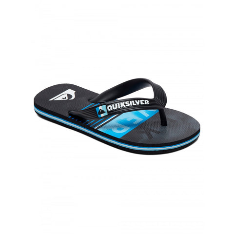 Quiksilver Youth Molokai Swell Vision Flip Flops - Black/Grey