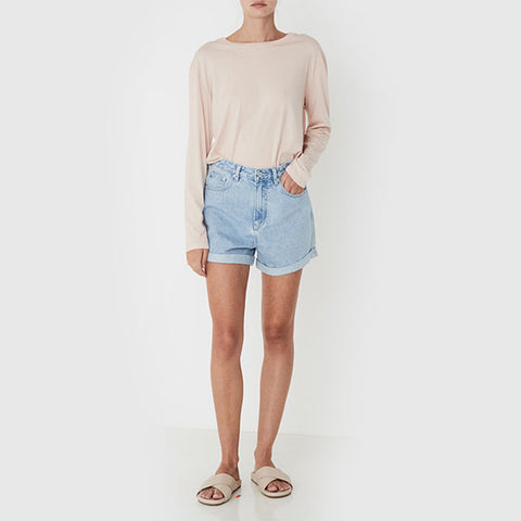 Assembly Label Rolled Hem Shorts - Pacific Blue