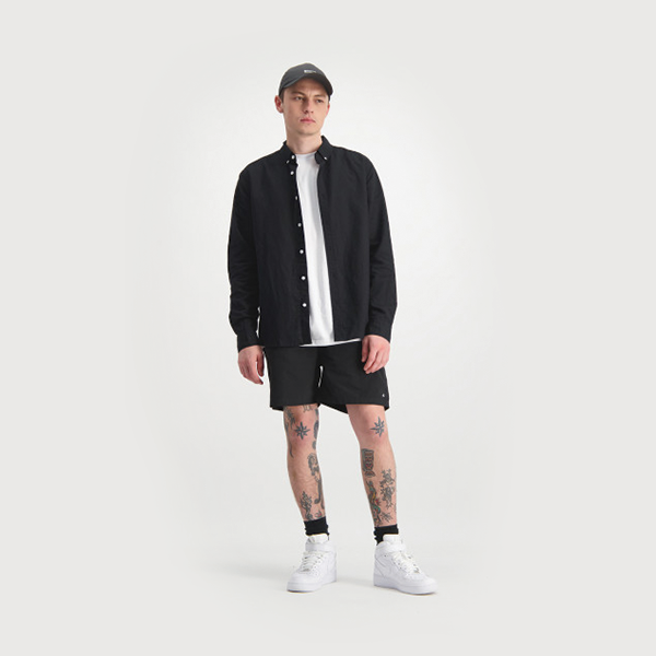 Huffer LS Lin-In Shirt - Black