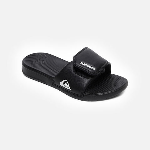 Quiksilver Bright Coast Adjust Youth Slides - Black