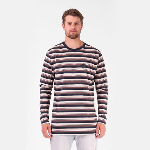 RPM Stripe L/S Tee - Multi Stripe