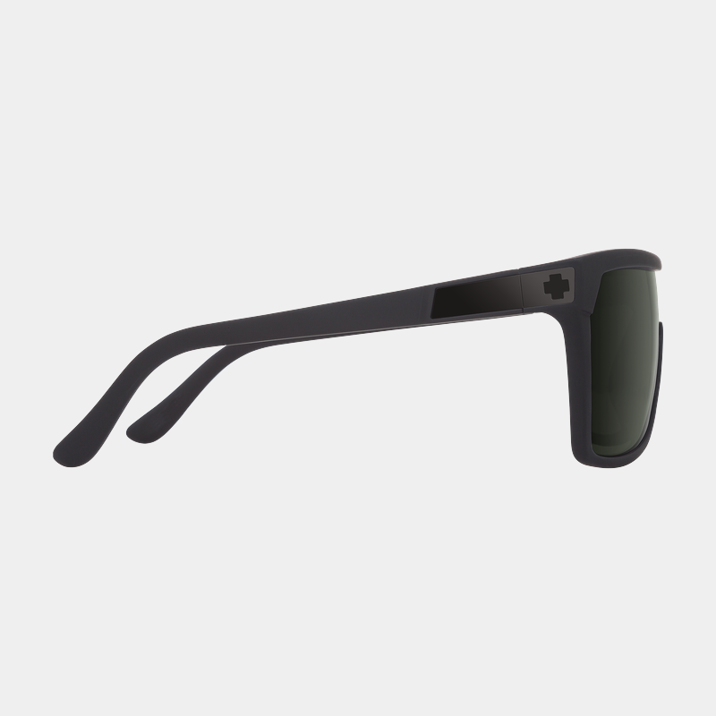 Spy Sunglasses - Flynn Soft Matte Black Happy Gray Green
