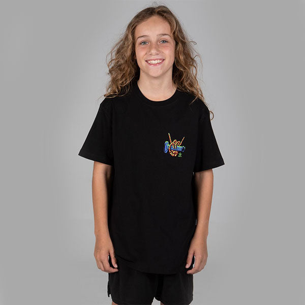 Unit Stoked Youth Tee - Black