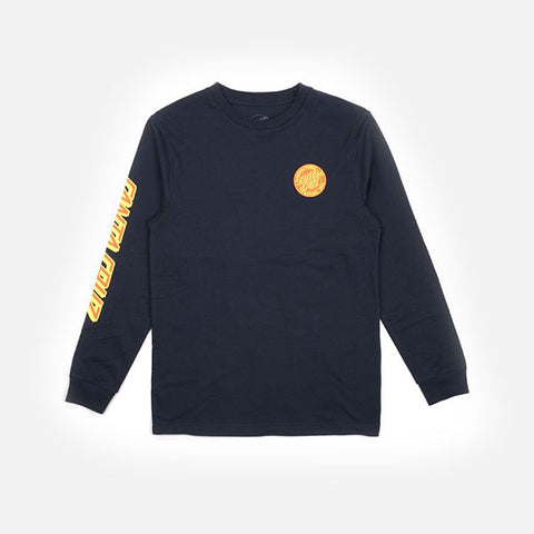 Santa Cruz MFG Dot Youth LS Tee - Navy