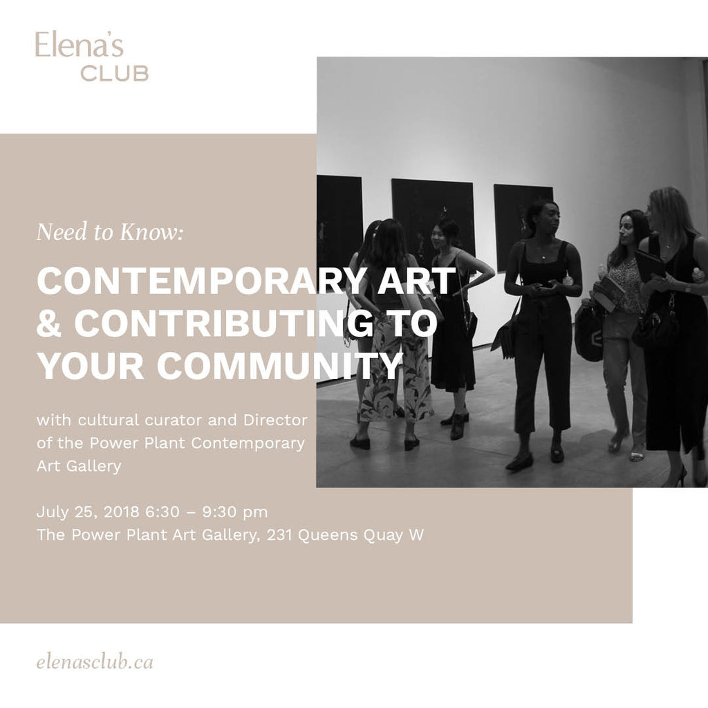 Need to Know: Contemporary Art & Contributing to Your Community