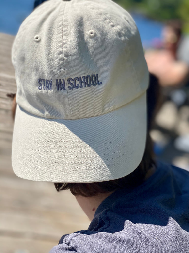 Almond Stay in School Hat